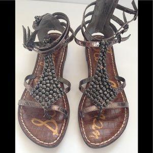 Sam Edelman gladiator metallic sandals